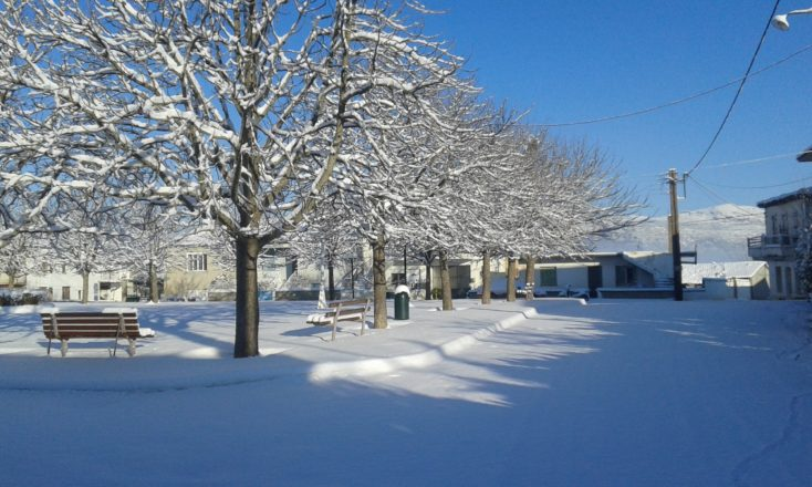 Φωτογραφίες από τα χιονισμένα Λιθοβούνια
